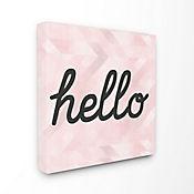 Cuadro en Lienzo Hello Pink Geometrical 43x43