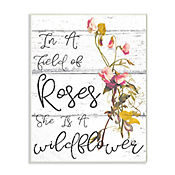 Cuadro Decorativo Be A Wildflower Placa 25x38