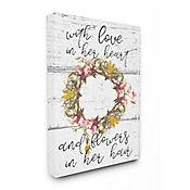 Cuadro en Lienzo Love In Her Heart Flowers 61x76