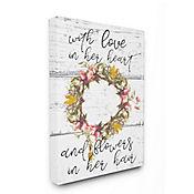 Cuadro en Lienzo Love In Her Heart Flowers 76x102