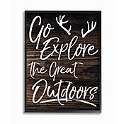 Cuadro en Lienzo Go Explore Outdoors Enmarcado 28x36