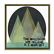 Cuadro Decorativo The Mountains Are Calling Placa 30x30