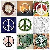 Cuadro en Lienzo Peace All Over 9 Piezas