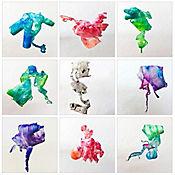 Cuadro en Lienzo Abstract Ribbons 9 Piezas