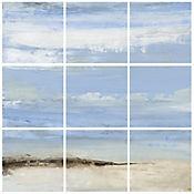 Cuadro en Lienzo Abstract Beach Seascape 9 Piezas