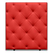 Cabecero para Cama Sencilla Diamond de Piso 90x120cm Ecocuero Rojo