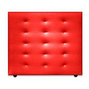 Cabecero para Cama Sencilla Four de Piso 90x120cm Ecocuero Rojo