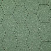 Teja Hexagonal Verde Cubre 2.5 m2 Caja x 25 Unidades