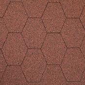 Teja Hexagonal Rojo Cubre 2.5 m2 Caja x 25 Unidades