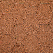 Teja Hexagonal Tabaco Cubre 2.5 m2 Caja x 25 Unidades