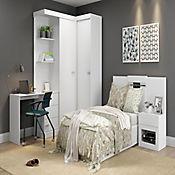 Mesa de Noche con Espejo 47x38x50,4cm Blanco