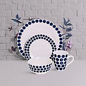 Vajilla Sicilia Blue 4 Puestos 16 Piezas
