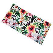Toalla de Playa Estampada Floral 76x152cm Blanco