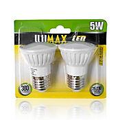 Setx2 Led Dicroico E27 380lm 5w Luz Amarilla