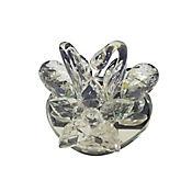 Adorno Cisne de Cristal Flor de Cristal