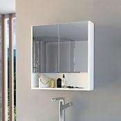 Gabinete de Baño Jaspe 62.5cm Alto x 60cm Ancho x 14cm Profundidad Blanco