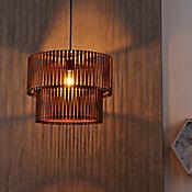 Lámpara Colgante Dos Cuerpos 1 Luz E27 Natural