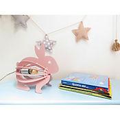 Lámpara De Mesa Infantil Conejo Rosado