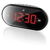 Radio Despertador 1.2 Pulgadas Am-Fm Doble Alarma 3.5mm Negro