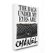 Cuadro en Lienzo The Bags Under Negro 41x51