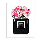 Cuadro Decorativo Perfume Glam Rosa Placa 32x47