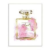Cuadro Decorativo Placa Perfume Glam Dorado 25x38
