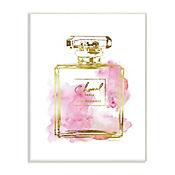 Cuadro Decorativo Placa Perfume Glam Dorado 32x47