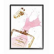 Cuadro en Lienzo Enmarcado Perfume Glam Splash 41x51