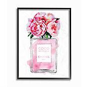 Cuadro en Lienzo Enmarcado Botella Perfume V2 28x36
