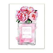 Cuadro Decorativo Botella Perfume V2 Floral Placa 25x38
