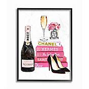 Cuadro Enmarcado Libro Fashion y Champaña 41x51