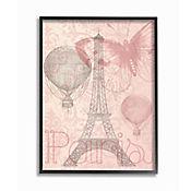 Cuadro en Lienzo Enmarcado Torre Eiffel Paris 41x51