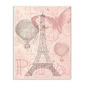 Cuadro Decorativo Torre Eiffel Paris Placa 25x38