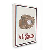 Cuadro en Lienzo Número 1 Baseball 41x51