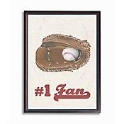 Cuadro en Lienzo Enmarcado Número 1 Baseball 28x36