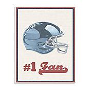 Cuadro Decorativo Número 1 Football Placa 25x38