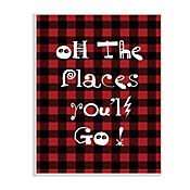 Cuadro Decorativo Oh The Places YouLl Go Placa 25x38
