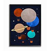 Cuadro en Lienzo Enmarcado Planetas Globo 41x51