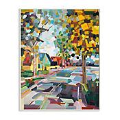 Cuadro Decorativo Otoño New England Placa 25x38