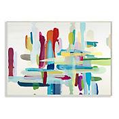 Cuadro Decorativo Hatch Abstraction Placa 25x38