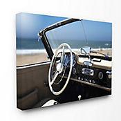 Cuadro en Lienzo Carro Long Beach Vintage 41x51