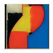 Cuadro Decorativo Zig Zag Azul - Negro Placa 30x30