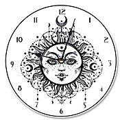 Reloj Tarot Negro Blanco 30x30
