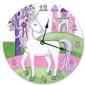 Reloj Unicornio y Castillo 30x30