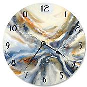 Reloj Geode Abstracto Rojo Azul 30x30