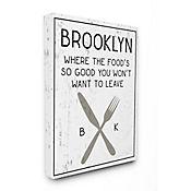 Cuadro en Lienzo Brooklyn Food You Wont Leave 41x51