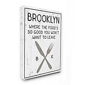 Cuadro en Lienzo Brooklyn Food You Wont Leave 61x76