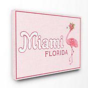 Cuadro en Lienzo Miami Florida Flamingo 61x76