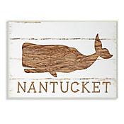 Cuadro Decorativo Ballena Nantucket Placa 25x38