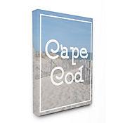 Cuadro en Lienzo Playa Cape Cod Vintage 41x51